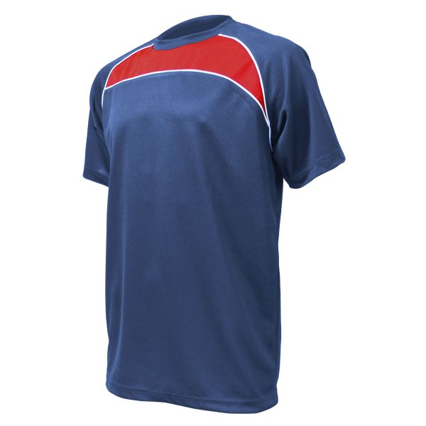 cercare nuovo stile di vita nuovi stili Training T-Shirt: Navy, Red & White Piping